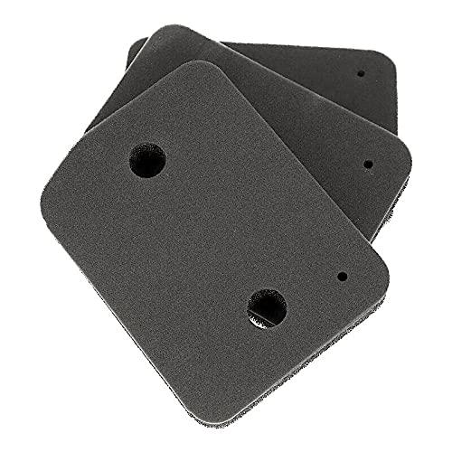 Filter für Miele 9164761 Trockner Wärmepumpentrockner | Fein-Grob | 207 x 157 x 30mm | Schwammfilter Filtermatte Kondenstrockner | Fusselfilter Schaumstoff Schaumfilter Sponge (3er Set)
