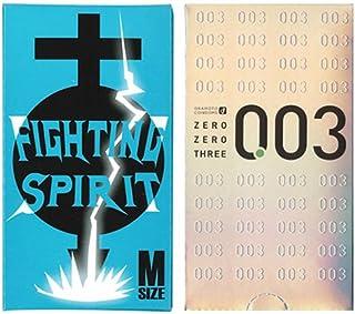 オカモト ゼロゼロスリー 12個入 + FIGHTING SPIRIT (ファイティングスピリット) コンドーム Mサイズ 12個入