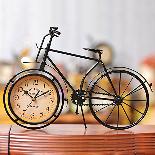 Befitery - Reloj de mesa con forma de bicicleta (sin batería)