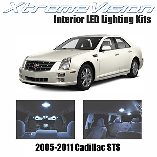 XtremeVision Interior LED for Cadillac STS 2005-2010 (12 Pieces) Cool White Interior LED Kit + Installation Tool