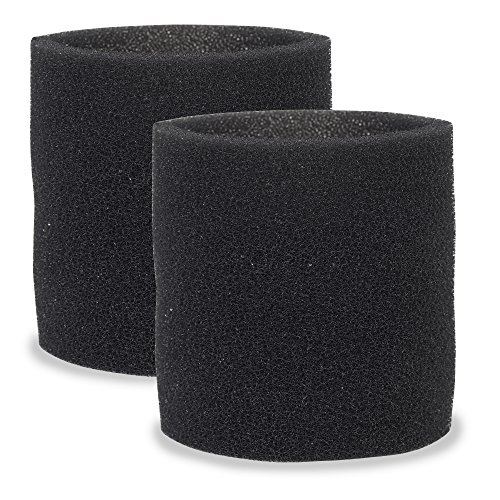 MULTI FIT Wet Vac Filters VF2001TP Foam Sleeve/Foam Filter for Wet Dry Vacuum Cleaner (2-Pack Wet Vac Filter Foam Sleeve) Fits Most Shop-Vac, VacMaster and Genie Shop Vacuum Cleaners