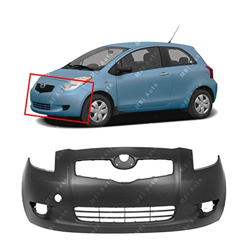 MBI AUTO - Primered, Front Bumper Cover Fascia for 2006-2008 Toyota Yaris Hatchback 06-08, TO1000325
