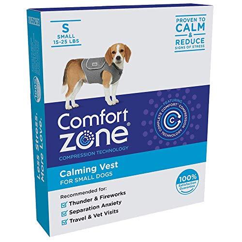 Comfort Zone 330262 Beruhigungswesten für Hunde, bei Gewitter und Ängsten - Klein, S