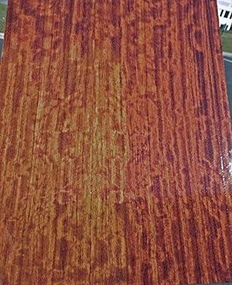 "1 Pc of African Figured Bubinga Wood Veneer 13"" x 18"" (1/12th"" Thick) All Wood Backing"