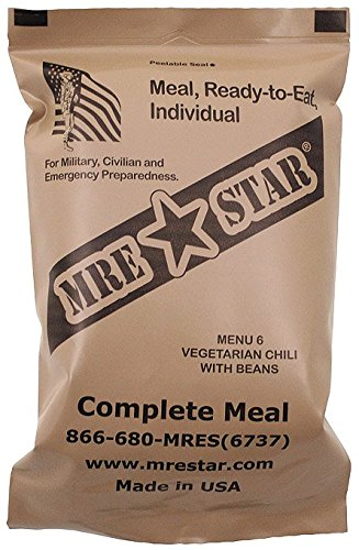 MRE Star Ready-to-Eat Menü: 6 Vegetarian Chili