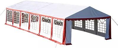 FZYHFA Pérgola de Fiesta 12 x 6 m Rojo Carpa Plegable Carpa Eurolandia Carpa Impermeable: Amazon.es: Jardín