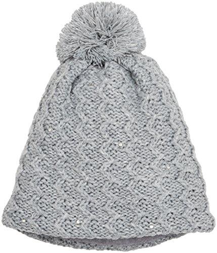 Sterntaler Mädchen Strickmütze Mütze, Grau (Silber Melange 542), 53