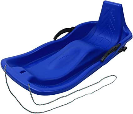 Winter Snow Sled Mini Pull Sled Downhill Flexible Toboggan with Comfortable Pull Rope Outdoor Sport Sprinter Sledding Toddler Kids Youth