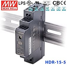 Ultra Slim Step-Shape 1SU DIN Rail Power Supply, 5V 2.4A 12W