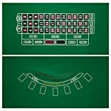 GSE Games & Sports Expert 2-Sided 36'x72' Blackjack and Roulette Casino Tabletop Felt Layout Mat