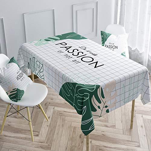 sans_marque Mantel de mesa, cubierta de mantel lavable, utilizado para comedor de cocina, decoración de mesa de cocina 100* 160 cm