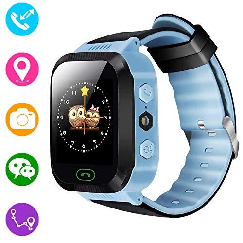 Reloj inteligente para niños, rastreador GPS para niños niñas niños verano al aire libre...