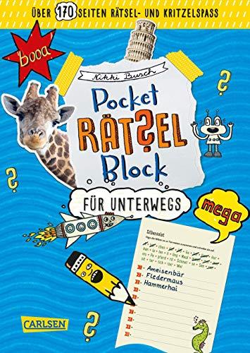 Pocket-Rätsel-Block: Rätsel für unterwegs: 100% Rätselspaß für deine Tasche