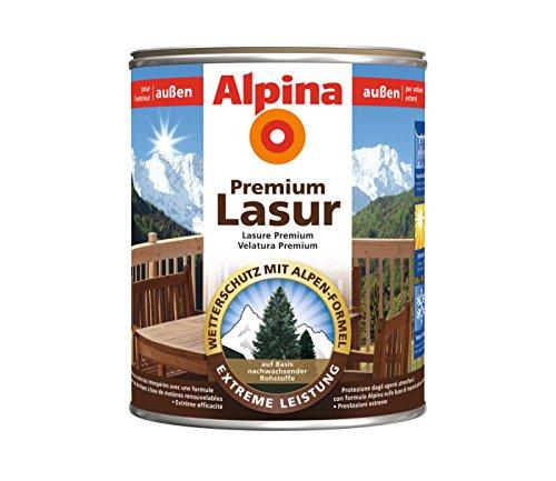 Alpina Lasur Wasserbasierte Premium Holzschutzlasur Farblos 4 Liter