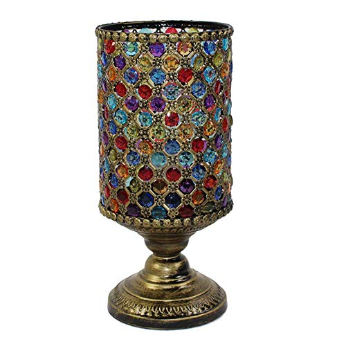 BOSSLV Lampes Murales de Lavage Lampes Murales Applique Art Lampe de Table Art du Fer Forgé Couleur Créative Vintage Perlé