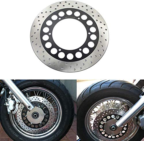 TARAZON 298mm Front Brake Rotor Disc for Yamaha V-Star Classic XVS650 XVS 650 98-17 XV535 S Virago 95-03 XVS 1100 V-Star Classic Custom 1999-2009 00 01 02 03 04 05 06 07 08 Royal Star XVZ 1300