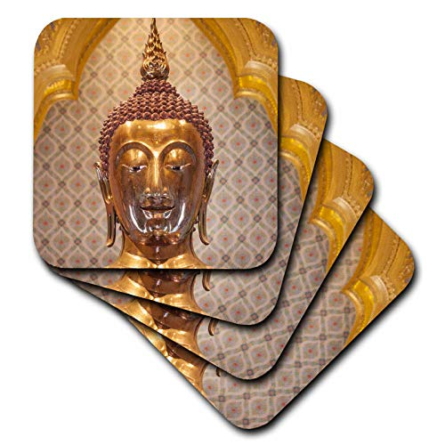 3dRose Thailand, Bangkok. Chinatown, Wat Traimit, the Golden Buddha. - Coasters (cst_343249_1)