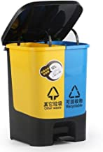 AINIYF Plastic Trash Can, Container Classification Creative Kitchen Waste Pedal Kitchen with Large Lid Dustbin 12-16L Prac...