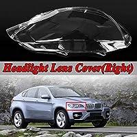 車のヘッドライトカバーシェル 左/右車のヘッドライトレンズカバーにはシェルヘッドランプカバーフィット感のためのBMW E71 X6の2008年から2014台の自動車ヘッドランプLenseカバーキット車のライトアセンブリ (Color : Right)