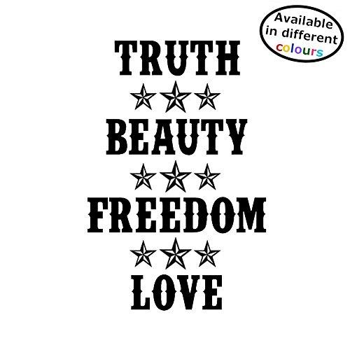 Moulin Rouge Sticker Waarheid Schoonheid Vrijheid Liefde - Leuke Sticker voor Auto of Thuis Small - 21cm x 15cm