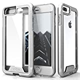 ZIZO ION Series for iPhone 8 Plus Case Military Grade Drop Tested with Tempered Glass Screen Protector iPhone 7 Plus 6s Plus Silver Clear