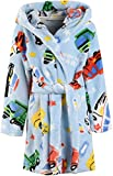 Boys Bathrobes, Toddler Kids Hooded Robes Soft Plush Fleece Pajamas Sleepwear for Boys & Girls (Car, Tag 100cm/ 3T)