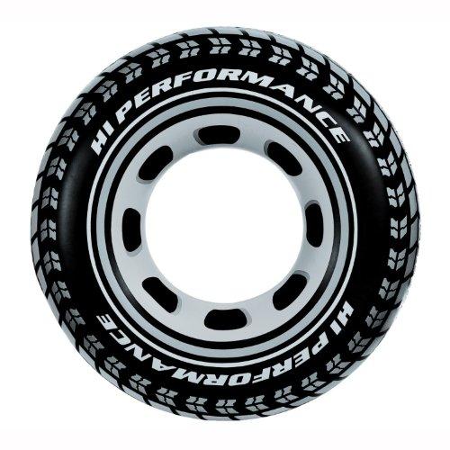 Grande bouée gonflable en forme de pneu, diamètre 91 cm