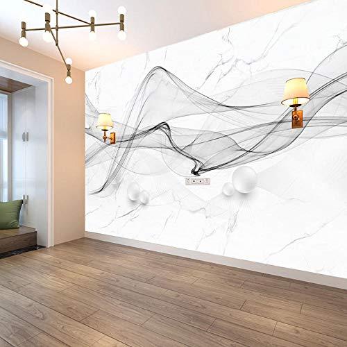 Nuevo Estilo Chino Abstracto Humo Paisaje Arte Mármol Patrón Papel Tapiz Mural Sin Costuras Para Revestimiento De Paredes-430 * 300Cm