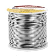 Mandala Crafts Anodized Aluminum Wire for Sculpting, Armature, Jewelry Making, Gem Metal Wrap, Garden, Colored and Soft, 1 Roll(18 Gauge, Gray)