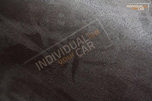 IndividualiseYourCar Mikrofaserstoff selbstklebend schwarz - ähnlich Alcantara - Stretch Folie Stoff (50cm x 146cm (35,60€/m²), Schwarz)