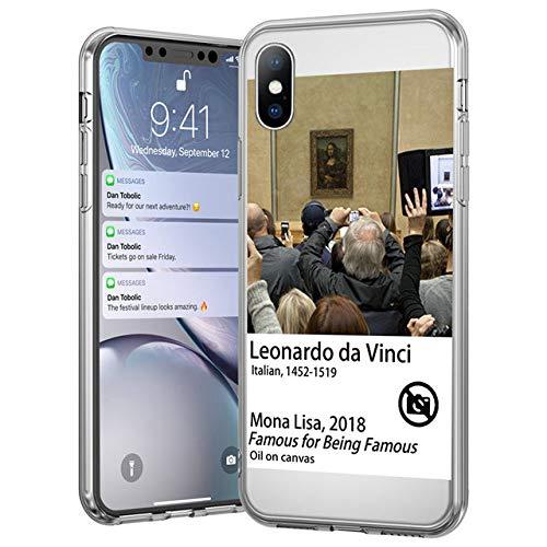 Funda Transparente para teléfono con Pintura al óleo para iPhone 11 Pro MAX X 7 8 6S Plus XR XS MAX 12 Pro MAX Funda Suave con Pintura Abstracta Divertida, 6430, para iPhone 6 o 6S