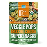 ORGANIC DRIED VEGGIE SNACK: Includes (6) 3 oz Bag of Made in Nature Broccoli Chedda Veggie Pops which are baked veggie balls made for guilt free snacking. HEALTHY, CRUNCHY AND DELICIOUS: Our Veggie Pops are savory, bite-sized snacks made with broccol...