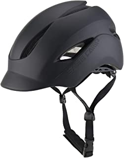 BASE CAMP Adult Bike Helmet with Rear Light for Urban Commuter Adjustable M L Size (21.65 to 24 Inches)