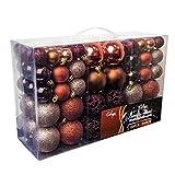Wohaga Lot de 50/100 boules de Noël décoratives pour sapin de Noël