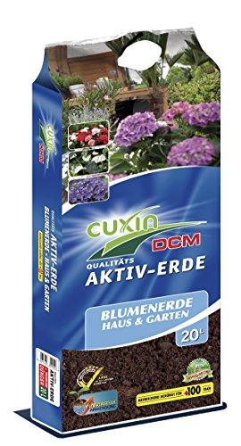 Cuxin Universal Zimmerpflanzenerde 20 L ● Blumenerde für Zimmerpflanzen und Palmen ● 100 Tage Dünger (20 L)
