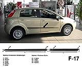 Spangenberg Listones de protección laterales de color negro para Fiat Grande Punto III tipo 199 de 5 puertas, año de construcción 06/2006 – 12/2012 F17 (3700017).