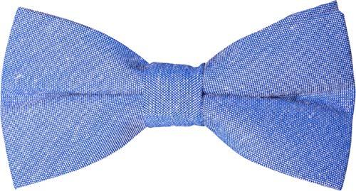 FLIEGENFAENGER Marken Fliege Herren Hell-Blau | Bow Tie | Hellblaue Schleife Herren ohne Binden | Vorgebunden & Verstellbar | Deutsche Standardgröße | Mit Geschenk Box