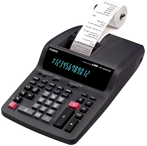 CASIO FR-620TEC calcolatrice scrivente semi-professionale - Display a 12 cifre, stampa a 2 colori con velocità 3,5 righe/sec.
