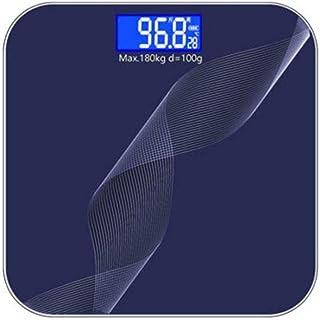 UYZ Báscula de baño de patrón Profesional Precisión Digital para Adultos Salud en el hogar Báscula para el Cuerpo Medidor de pesaje para niña Duradero (Color: Azul Profundo)