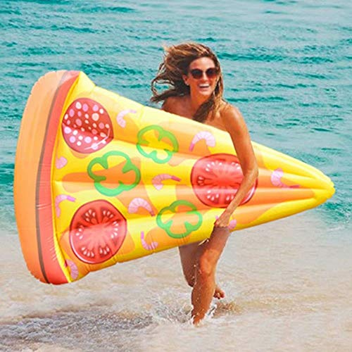 Swimming Pool Float 185x130 cm Inflatable Giant Pizza Slice Float Inflatable Summer Party Lounge Toys for Kids and Adults