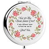 onederful Sister Gifts from Sister and Brother, Sisters Birthday Gift Ideas,Sliver Compact Makeup...
