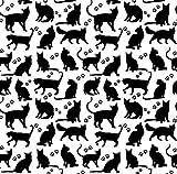 Pingianer 8,98€/m Katze 100% Baumwolle 50x160cm