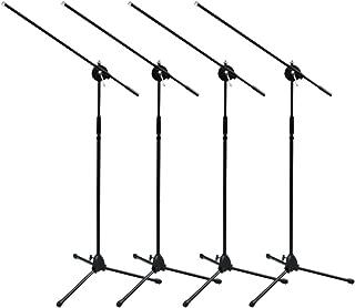 Seismic Audio - FOUR (4) Tripod Microphone Mic Boom Stand - PA/DJ/Band/Church/Wedding use
