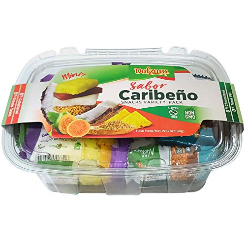 Dulzura Borincana Caribbean Flavor Snacks Variety Pack, Vegan Friendly Mini Bites, 7 Ounce (Pack of 1)
