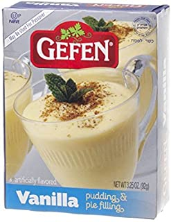 Gefen Vanilla Pudding & Pie Filling Kosher For Passover 3.25 Oz. Pack Of ...