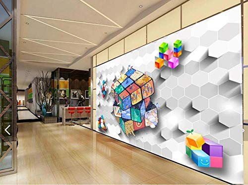 Papel pintado personalizado Mural fotográfico 3D Cubo de Rubik Herramientas Fondo Pared Sala de estar Dormitorio Papeles pintados Cubo de Rubik, 300x210 cm (118,1 por 82,7 pulgadas)