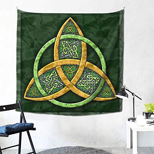 TPOKIM Celtic Trinity Knot Art Wall-Hanging Tapestry Room Background Cloth Bed Head Hanging Cloth Bedroom Wall Cloth Tapestry 59x59Inch
