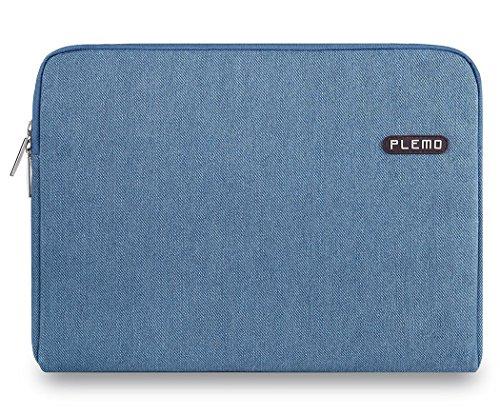 Plemo Sleeve per Laptop, MacBook, Tessuto Denim 13–33,8cm di Copertura Borsa per 12.9iPad PRO/MacBook Air/MacBook PRO/Notebook Computer/Chromebook, Blu