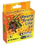 Fishing Tackle Max Unisex– Erwachsene 10C8800208C10 FTM Omura Braid 0,08mm 3,64kg 100m 8800208 Geflochtene Schnur Ultra Light Fischen, Bunt, Normal