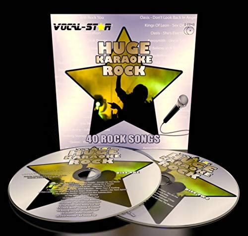 Vocal-Star Rock Karaoke CDG CD+G Disc Set 40 Songs - 2 Discs